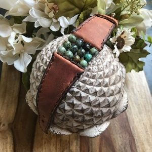 Jewelry - And Crafted Genuine Leather Cuff